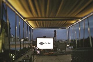 Impreza firmowa. Event z wirtualną rzeczywistością Oculus Rift na dachu hotelu monopol Wrocław.