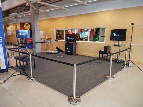 Strefa VR (Virtual reality) w IKEA Wrocław. Urządzenia: Oculus Rift, HTC VIVE