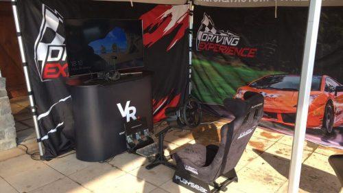 Wirtualna rzeczywistość Oculus Rift + playseat - impreza wyścigowa.