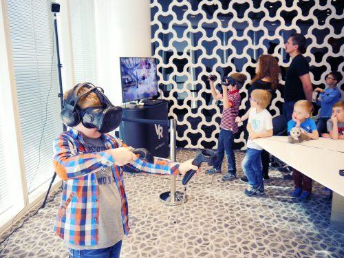 Wirtualna Rzeczywistość dla dzieci. Impreza, event dla dzieci. Oculus Rift, HTC VIVE.